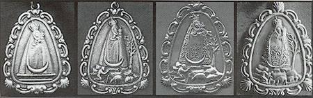 EVOLUCIÓN Medallas cofrades Virgen de la Cabeza