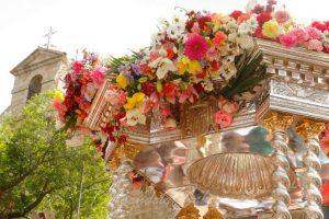 Andas Andújar Virgen de la Cabeza cupula