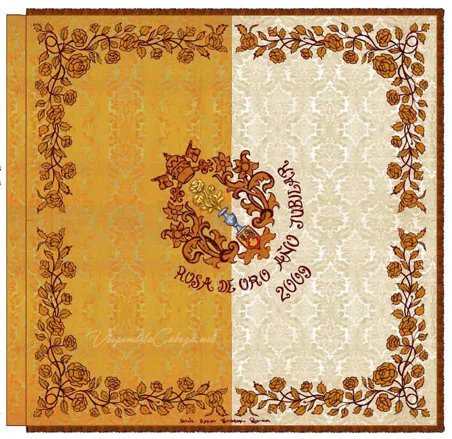 Bandera Rosa de Oro Virgen de la Cabeza