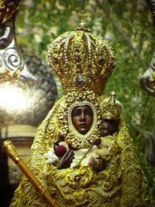 manto recoronacion y corona Virgen de la Cabeza