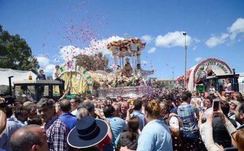 Procesión Virgen de la Cabeza ciudad de las carretas