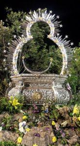 resplandor y peana Virgen de la Cabeza