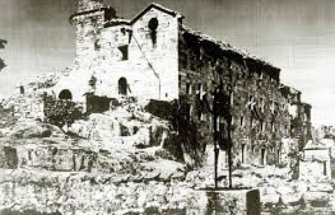 santuario derruido por la guerra civil