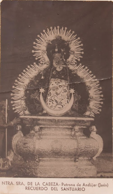 Virgen de la Cabeza estampa antigua