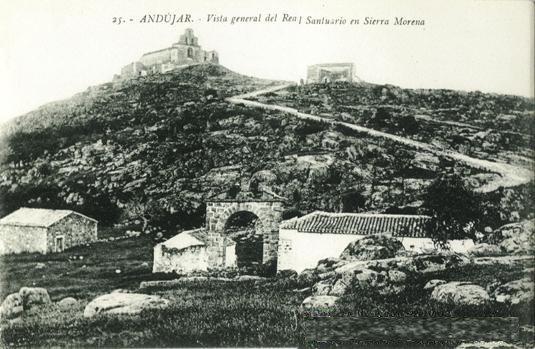 Santuario Virgen de la Cabeza estampa antigua
