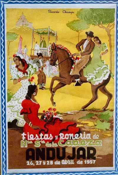 Virgen de la Cabeza CARTEL DE ROMERÍA 1957