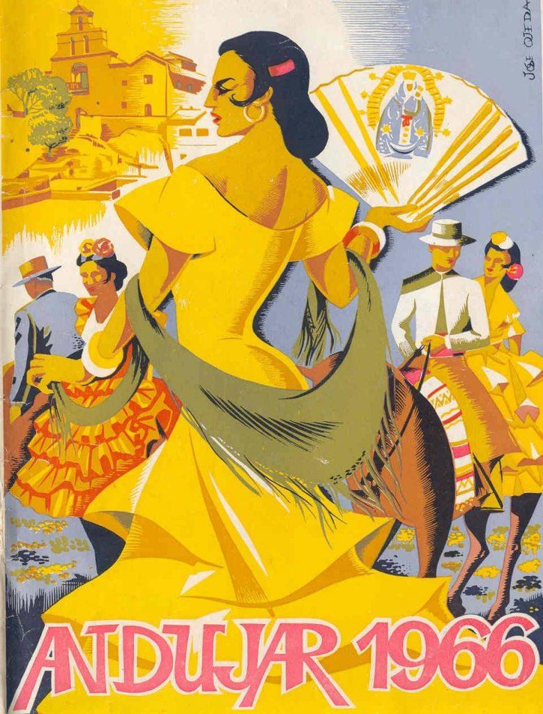 CARTEL DE ROMERÍA DE LA VIRGEN DE LA CABEZA DEL AÑO 1966