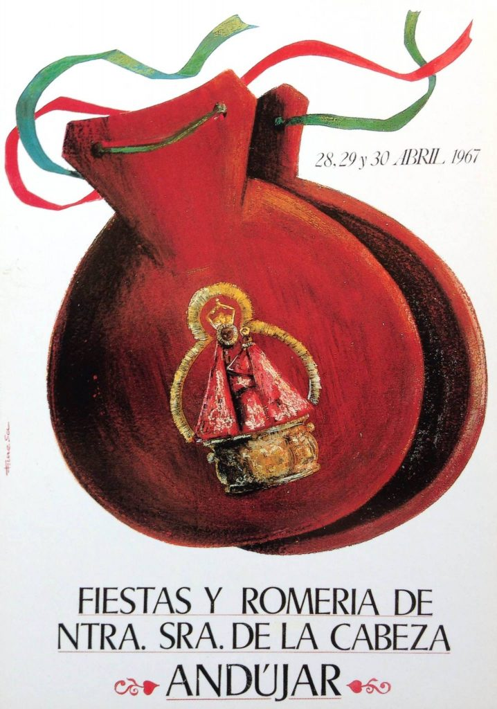 CARTEL DE ROMERÍA DE LA VIRGEN DE LA CABEZA DEL AÑO 1967