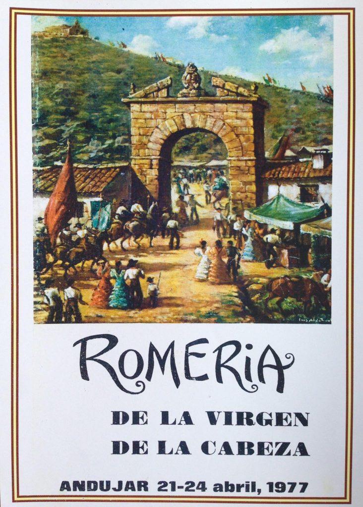 CARTEL DE ROMERÍA DE LA VIRGEN DE LA CABEZA DEL AÑO 1977