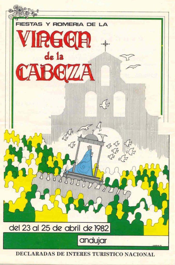 CARTEL DE ROMERÍA DE LA VIRGEN DE LA CABEZA DEL AÑO 1982