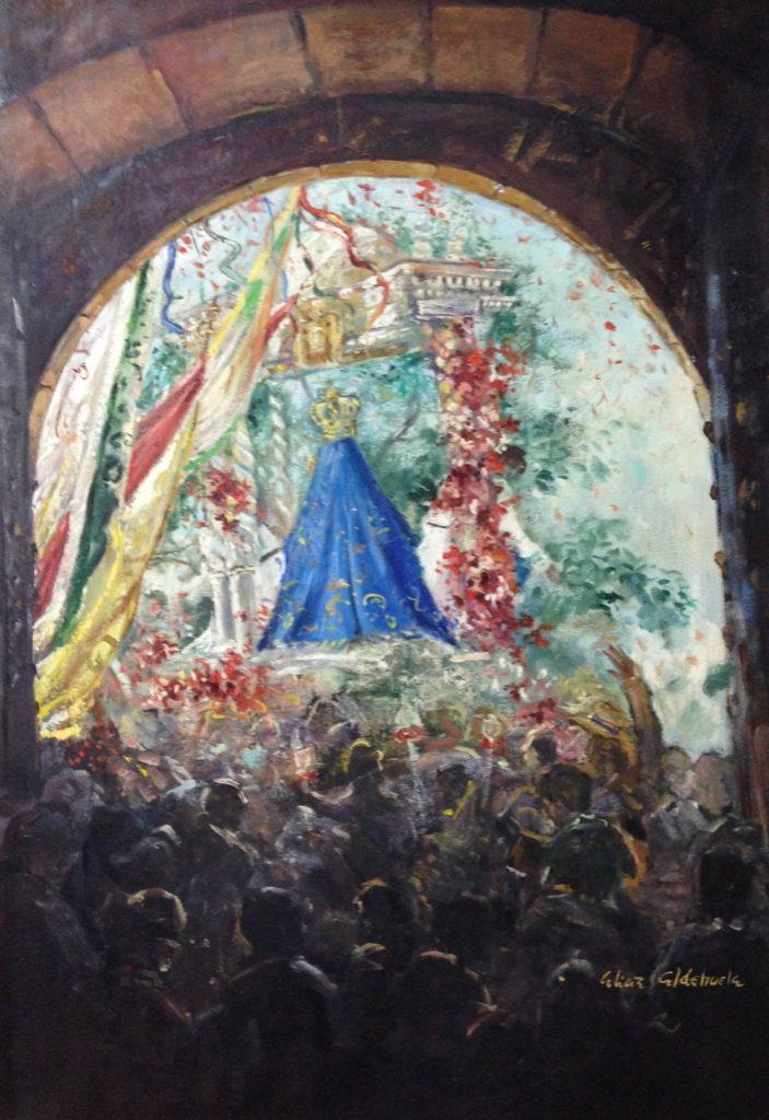 CARTEL DE ROMERÍA DE LA VIRGEN DE LA CABEZA DEL AÑO 1991