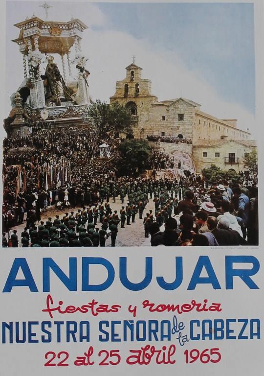 CARTEL DE ROMERÍA DE LA VIRGEN DE LA CABEZA DEL AÑO 1965