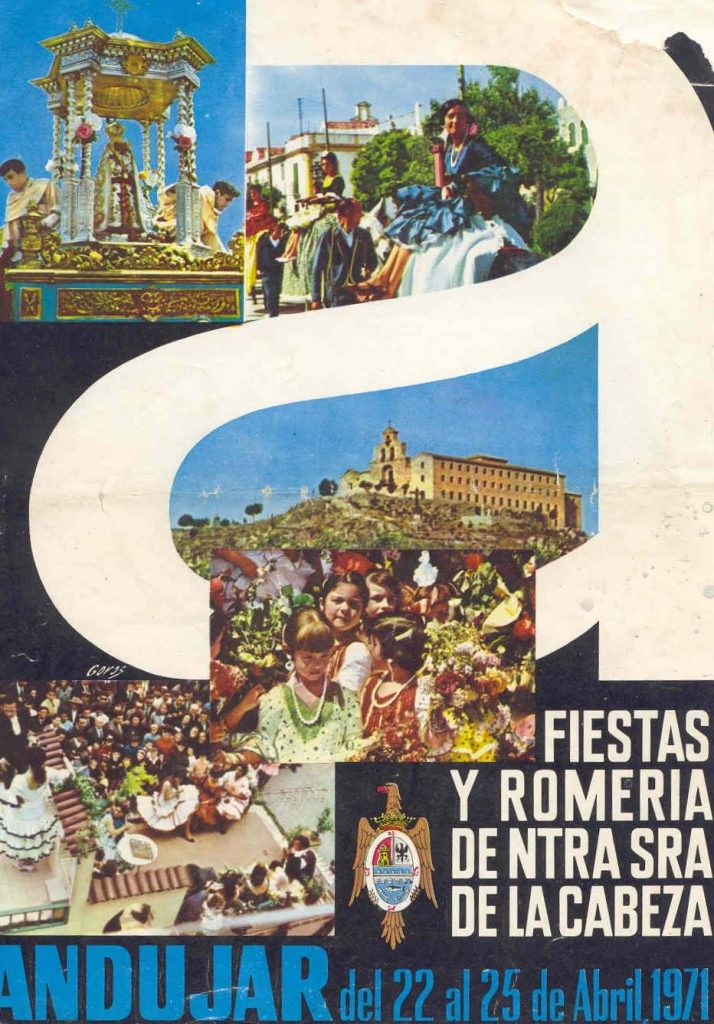 CARTEL DE ROMERÍA DE LA VIRGEN DE LA CABEZA DEL AÑO 1971