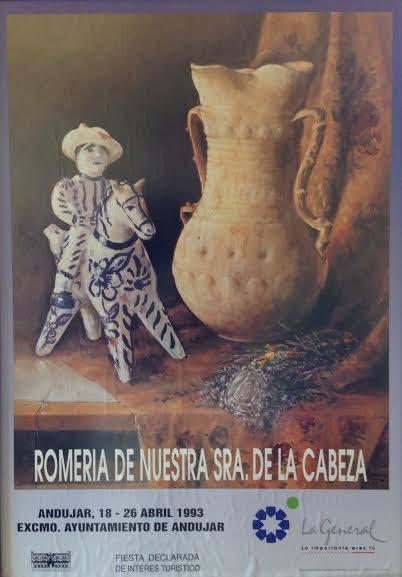 Cartel de romería 1993 virgen de la Cabeza