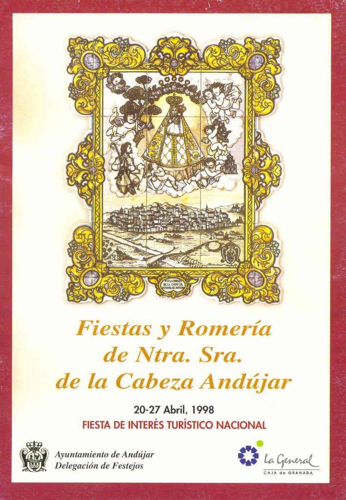 Cartel Virgen de la Cabeza romería 1998