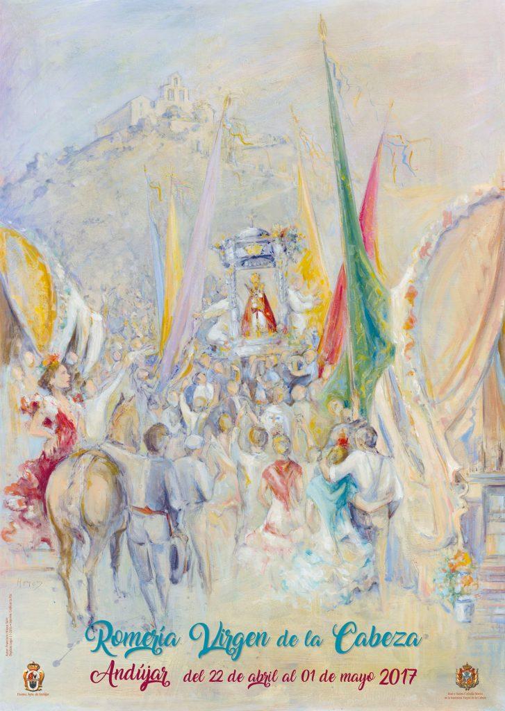 Cartel de romería Virgen de la Cabeza 2017
