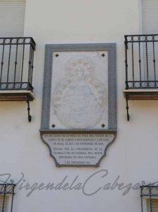 Cofradia El Carpio casa en el santuario detalle