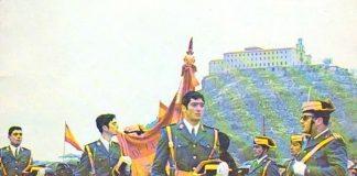 Jura de bandera en el Santuario.