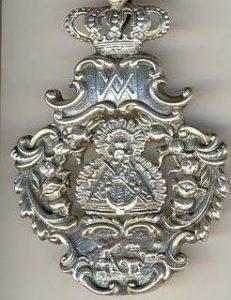 Medalla cofradia Virgen de la Cabeza Colomera