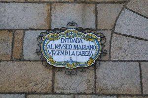 Museo Virgen de la Cabeza cartel de entrada