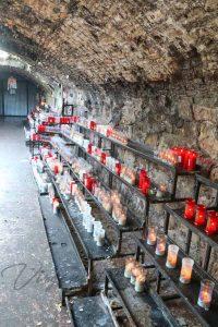 Virgen de la Cabeza ofrenda velas