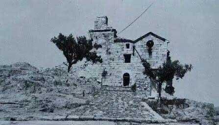 Santuario-de-la-Virgen-de-la-Cabeza Fachada-principal tras-el-asedio