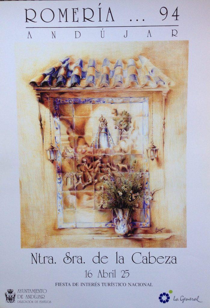 Cartel Virgen de la Cabeza romerÍa 1994