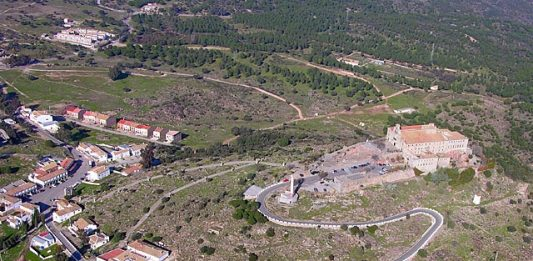 Santuario Virgen de la Cabeza vista aerea