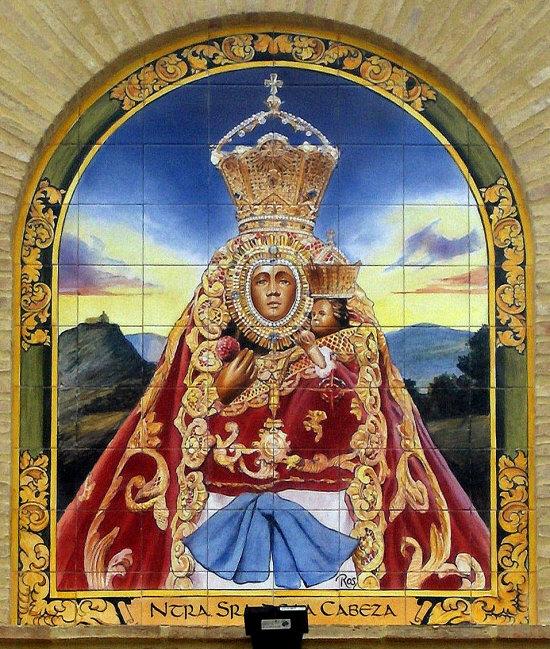 mural cerámico Virgen de la Cabeza