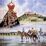 Azulejo romería Virgen de la Cabeza
