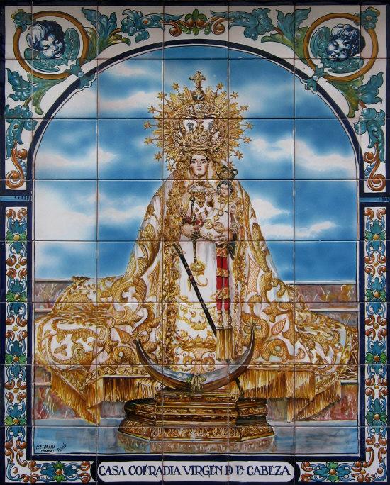 azulejo Virgen de la Cabeza de Rute