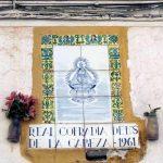azulejo-virgen-cabeza-antiguo en Andujar