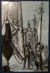pintura-ceramica-pedro-palenciano Virgen de la Cabeza