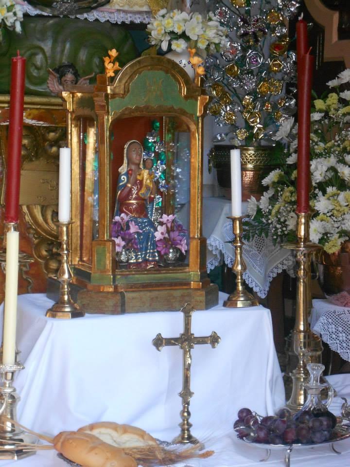 Virgen de la Cabeza Benameji detalle
