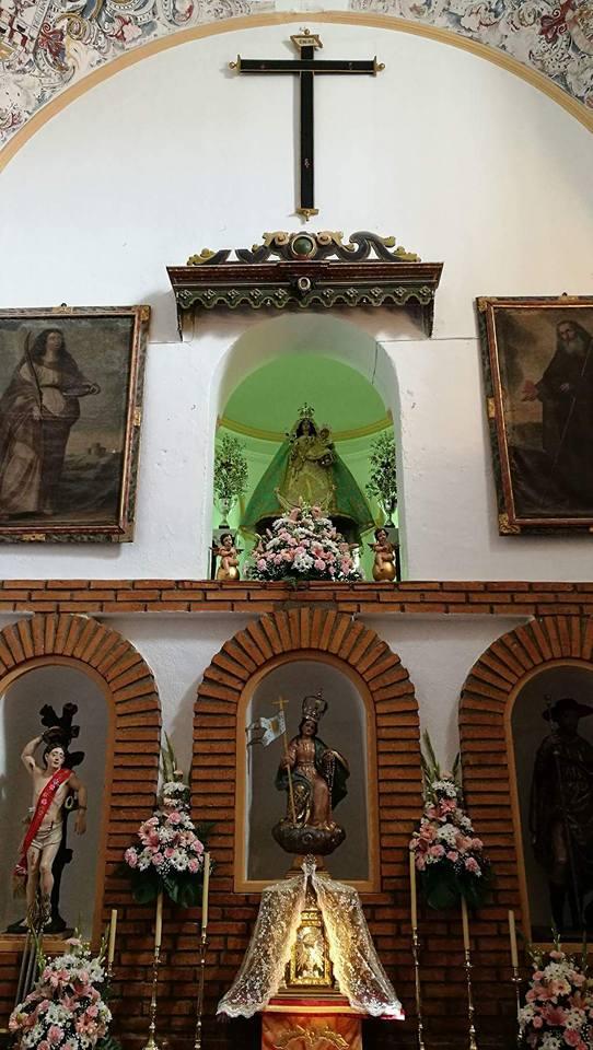 Virgen de la Cabeza Benameji iglesia detalle