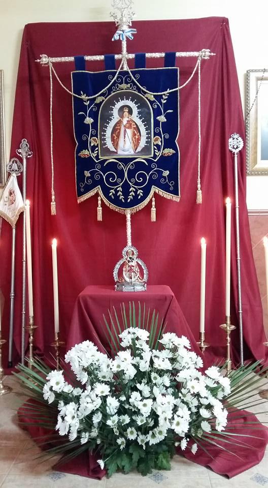 Virgen de la Cabeza Castillo de Locubin estandarte