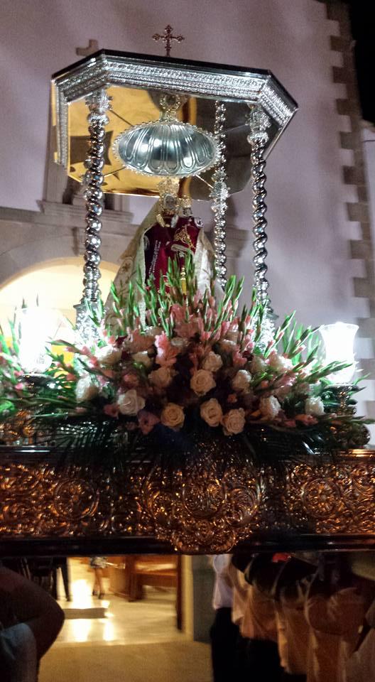 Virgen de la Cabeza Castillo de Locubin templete
