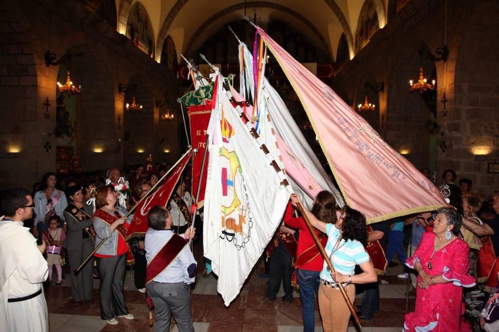 Virgen de la Cabeza El Toboso banderas