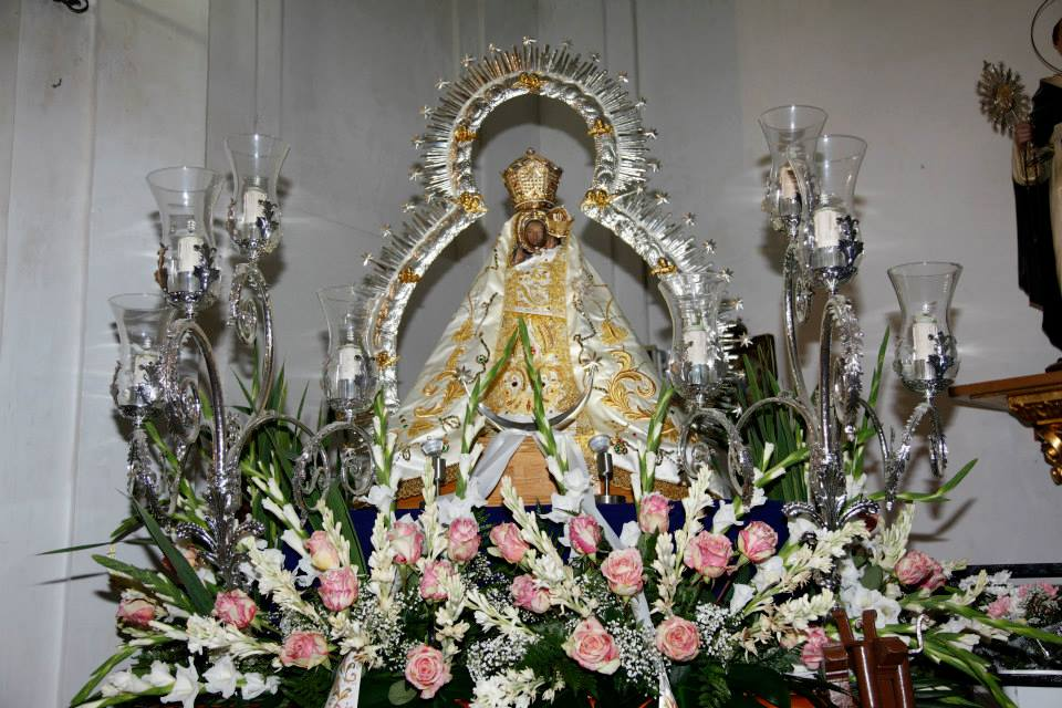 Virgen de la Cabeza El Toboso entronizada