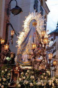manto Virgen de la Cabeza azul 2