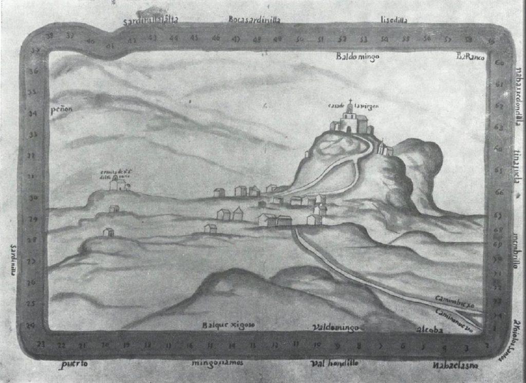 Dibujo antiguo santuario Virgen de la Cabeza