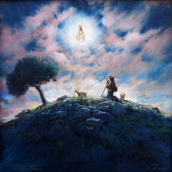 Pintura aparición Virgen de la Cabeza