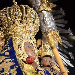 Virgen de la Cabeza corona y rostrillo Andújar