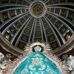 Virgen de la Cabeza manto turquesa