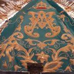 Virgen de la Cabeza manto turquesa atras