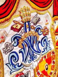 Bandera Matriz Andújar detalle Ave María