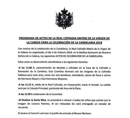 Candelaria-Virgen-de-la-Cabeza-actos-2018