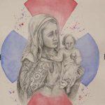 Cuadro Virgen con Cruz trinitaria