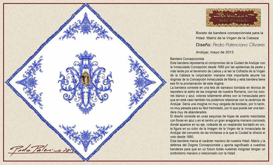 bandera Virgen de la Cabeza Concepcionista