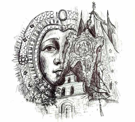 dibujo-Virgen-de-la-Cabeza-de-Angel-Muñoz